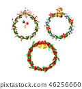 christmas, watercolor, vector 46256660