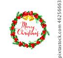 christmas, watercolor, vector 46256663