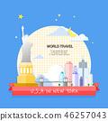 美國世界旅行插畫家 46257043