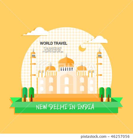 印度世界旅行插畫家 46257056