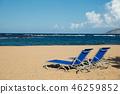 St. Kitts Beautiful beach and beach chairs 46259852