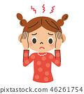 头疼 头痛 女孩 46261754