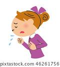 咳嗽 寒冷 感冒 46261756
