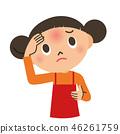 发烧 女孩 少女 46261759