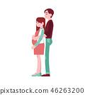 vector, pregnant, woman 46263200