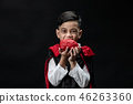 Halloween festive dracula boy costume. 46263360