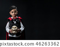 Halloween festive dracula boy costume. 46263362