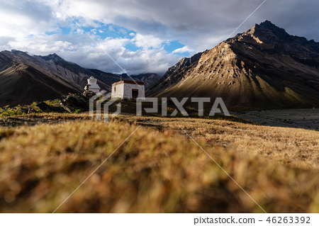Ancient stupa and structure in Zanskar. India 46263392