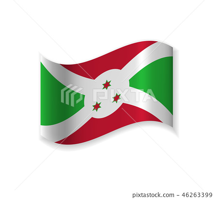 Official Flag Of The Republic Of Burundi. 46263399