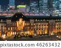 东京站和丸之内周围的夜景 46263432