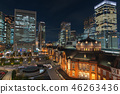 东京站和丸之内周围的夜景 46263436
