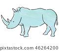 动物犀牛 46264200