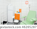 Modern and comfortable equipped hospital room. Treatment room with medicine in the fridge. 46265287