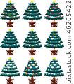 크리스마스 트리 호화 전나무 눈 겨울 12 월 일러스트 46265422