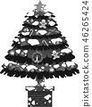 크리스마스 트리 호화 전나무 눈 겨울 12 월 일러스트 46265424