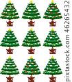 크리스마스 트리 호화 전나무 눈 겨울 12 월 일러스트 46265432