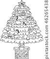 크리스마스 트리 호화 전나무 눈 겨울 12 월 일러스트 46265438