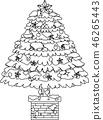 크리스마스 트리 호화 전나무 눈 겨울 12 월 일러스트 46265443