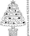 크리스마스 트리 호화 전나무 눈 겨울 12 월 일러스트 46265444