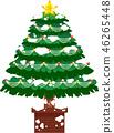 크리스마스 트리 호화 전나무 눈 겨울 12 월 일러스트 46265448