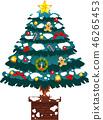 크리스마스 트리 호화 전나무 눈 겨울 12 월 일러스트 46265453