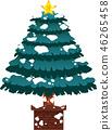 크리스마스 트리 호화 전나무 눈 겨울 12 월 일러스트 46265458