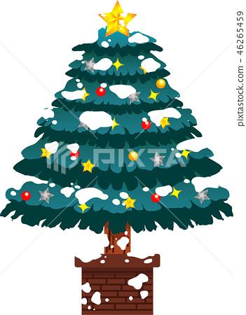 크리스마스 트리 호화 전나무 눈 겨울 12 월 일러스트 46265459