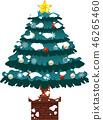 크리스마스 트리 호화 전나무 눈 겨울 12 월 일러스트 46265460