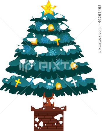 크리스마스 트리 호화 전나무 눈 겨울 12 월 일러스트 46265462
