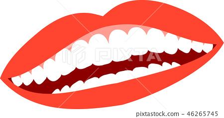 Mouth lips female teeth healthy lipstick illustration 46265745