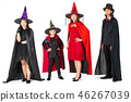 Family activity, halloween concept isolated. 46267039