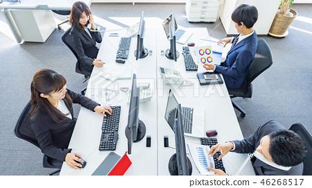 業務團隊,業務,辦公室,個人電腦 46268517