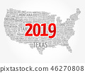 2019 year USA Map word cloud 46270808