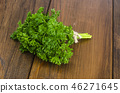 Bunch of fresh green parsley, organic vegetables 46271645