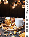 Traditional Christmas Panettone with with eggnog 46272306