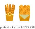 bread basket vector 46272538