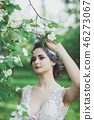 gentle portrait of a beautiful bride 46273067