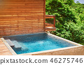 Blue swimming pool 46275746