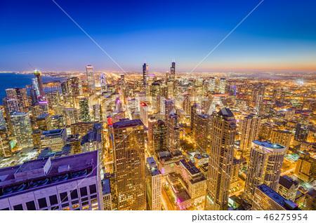 Chicago, Illinois, USA Skyline 46275954