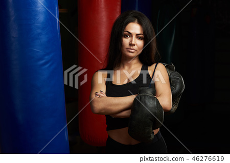Woman boxing concept 46276619