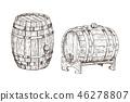 vector wooden vintage 46278807