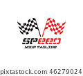 Race flag icon, simple design race flag logo 46279024