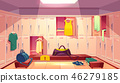 Vector changing room with lockers for sports 46279185