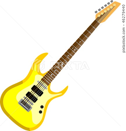 Yellow Electric Guitar Music Instrument 46279440