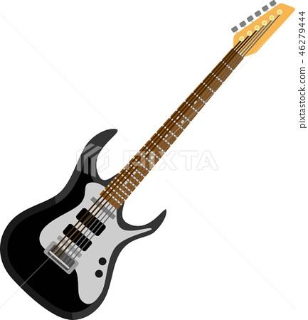 Black Electric Guitar Music Instrument 46279444