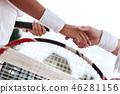 손, 테니스, 악수 46281156