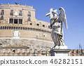 statue, bridge, italy 46282151