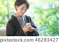 온천 여행 여자 여행 관광 이미지 46283427