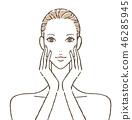 女性皮肤护理 46285945