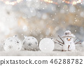 Christmas decoration with blurred background 46288782